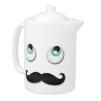 Mr stache teapot