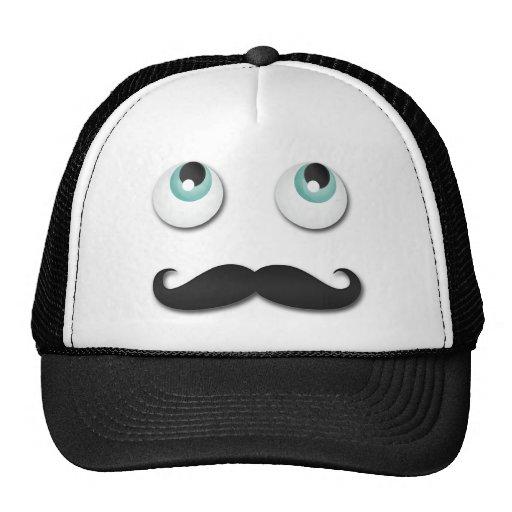 Mr stache trucker hat