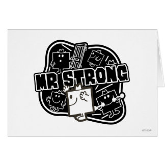 Mr. Strong | Black & White Card