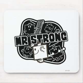 Mr. Strong   Black & White Mouse Pad