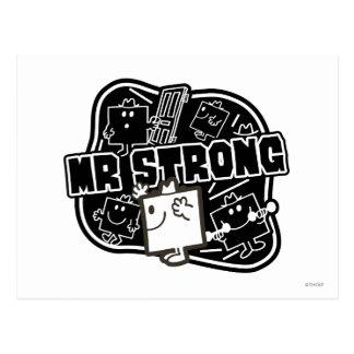 Mr. Strong | Black & White Postcard