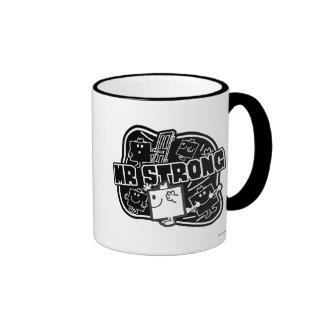 Mr. Strong   Black & White Ringer Coffee Mug