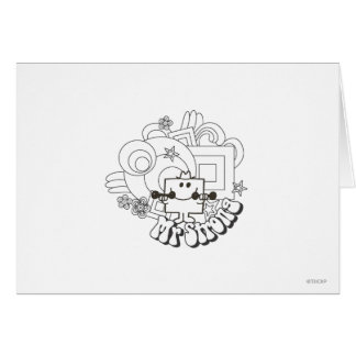 Mr. Strong | Black & White Stars & Flowers Card