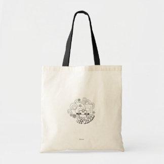 Mr. Strong   Black & White Stars & Flowers Tote Bag