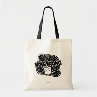 Mr. Strong   Black & White Tote Bag