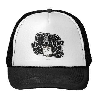 Mr. Strong   Black & White Trucker Hat