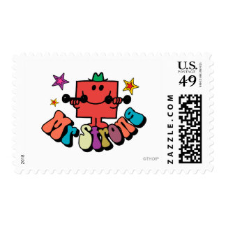 Mr. Strong | Colorful Lettering & Stars Postage
