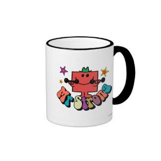Mr. Strong   Colorful Lettering & Stars Ringer Coffee Mug
