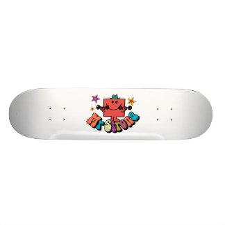 Mr. Strong | Colorful Lettering & Stars Skateboard