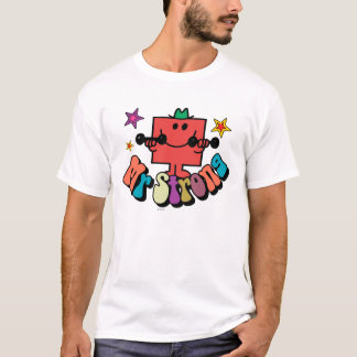 Mr. Strong | Colorful Lettering & Stars T-Shirt