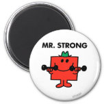 Mr. Strong | Lifting Weights 2 Inch Round Magnet
