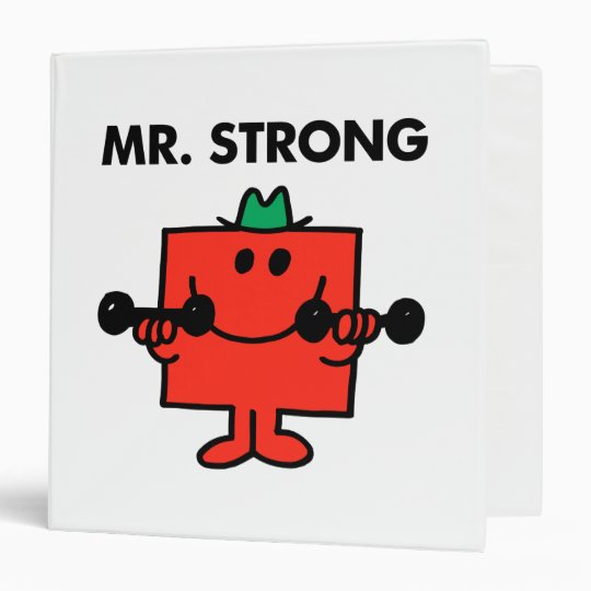 Mr. Strong | Lifting Weights 3 Ring Binder