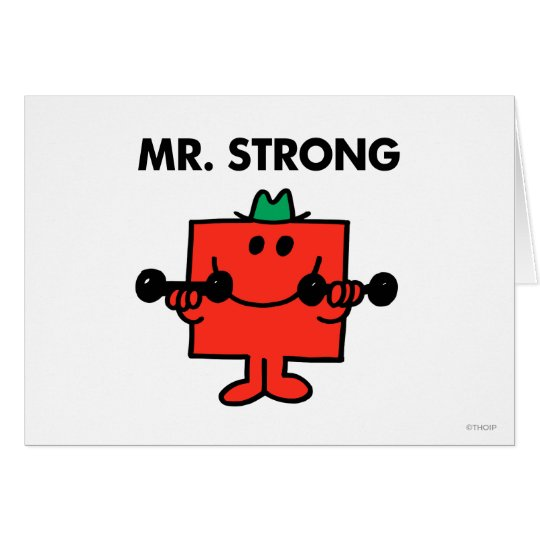 Mr. Strong | Lifting Weights Card