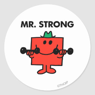 Mr. Strong | Lifting Weights Classic Round Sticker