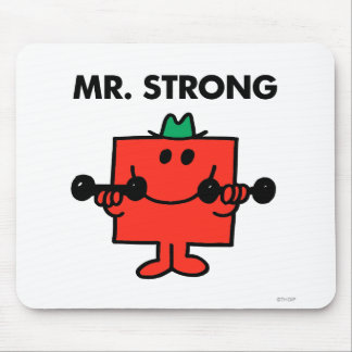 Mr. Strong   Lifting Weights Mouse Pad