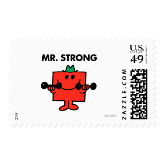 Mr. Strong | Lifting Weights Postage