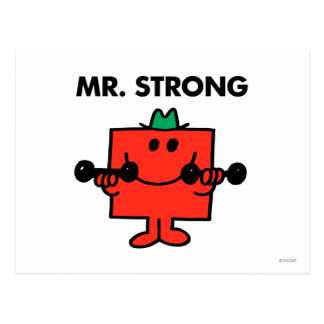 Mr. Strong | Lifting Weights Postcard