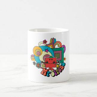 Mr. Strong   Psychedelic Swirls, Stars, & Flowers Classic White Coffee Mug