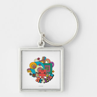 Mr. Strong | Psychedelic Swirls, Stars, & Flowers Keychain