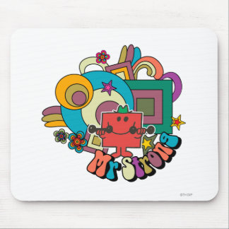Mr. Strong   Psychedelic Swirls, Stars, & Flowers Mouse Pad
