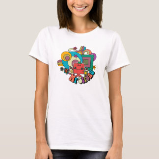 Mr. Strong | Psychedelic Swirls, Stars, & Flowers T-Shirt