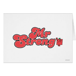 Mr. Strong | Red Lettering Card