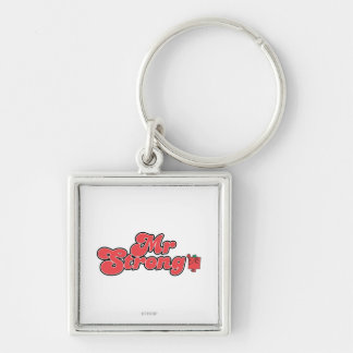 Mr. Strong | Red Lettering Keychain