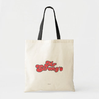 Mr. Strong   Red Lettering Tote Bag