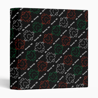 Mr Strong | Red, White & Green Pattern Binder