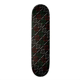 Mr Strong | Red, White & Green Pattern Skateboard Deck