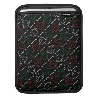 Mr Strong | Red, White & Green Pattern Sleeve For iPads