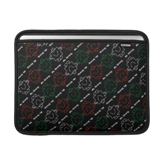 Mr Strong | Red, White & Green Pattern Sleeve For MacBook Air