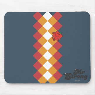 Mr. Strong   Red, Yellow, & White Pattern Mouse Pad