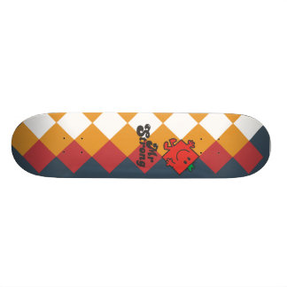 Mr. Strong | Red, Yellow, & White Pattern Skateboard Deck