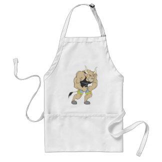Mr Strong Shirt | Cute Muscular Mr Strong Ox Shirt Adult Apron