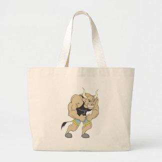 Mr Strong Shirt   Cute Muscular Mr Strong Ox Shirt Canvas Bag