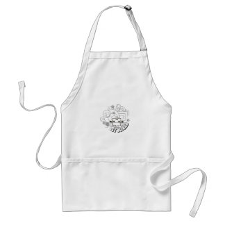 Mr Strong Swirl Lines Aprons