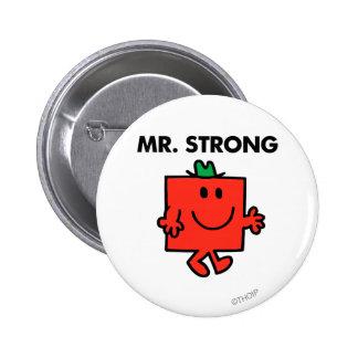 Mr. Strong Waving Hello 2 Inch Round Button