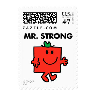 Mr. Strong Waving Hello Postage