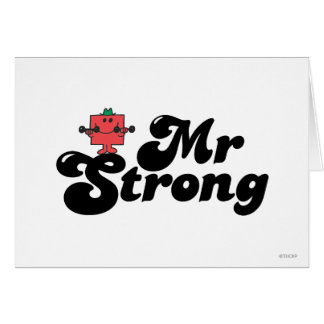 Mr. Strong | Weights & Bubble Lettering Card