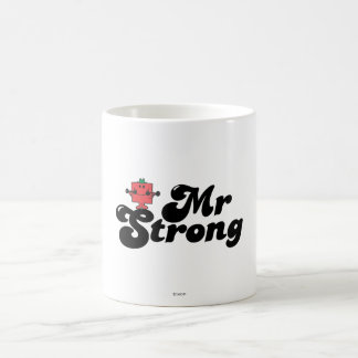 Mr. Strong   Weights & Bubble Lettering Classic White Coffee Mug