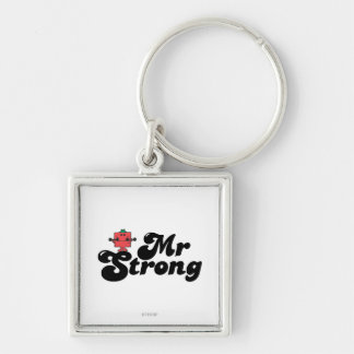Mr. Strong | Weights & Bubble Lettering Keychain