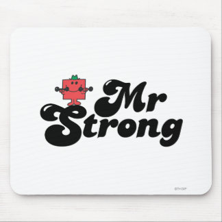 Mr. Strong   Weights & Bubble Lettering Mouse Pad