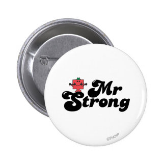 Mr. Strong | Weights & Bubble Lettering Pinback Button