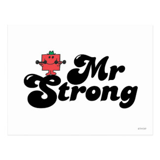 Mr. Strong | Weights & Bubble Lettering Postcard