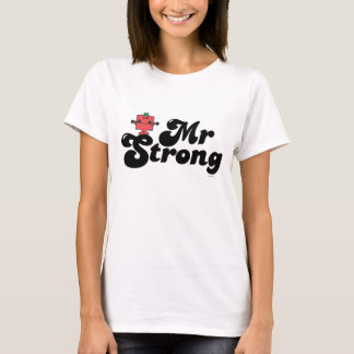 Mr. Strong | Weights & Bubble Lettering T-Shirt