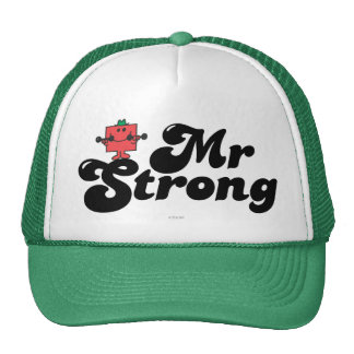 Mr. Strong   Weights & Bubble Lettering Trucker Hat