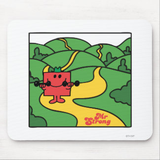Mr. Strong | Woodland Workout Mouse Pad