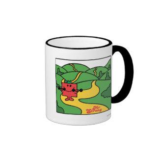 Mr. Strong   Woodland Workout Ringer Coffee Mug