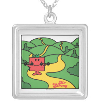 Mr. Strong | Woodland Workout Square Pendant Necklace